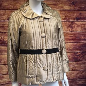 Marc by Marc Jacobs Tan Gold Satin Quilted Jacket